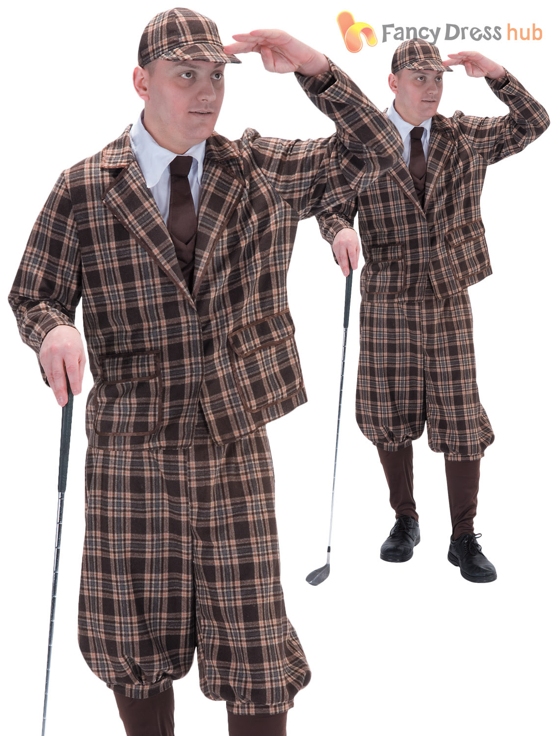 adults 1930s golfer pub golf costume stag party sports