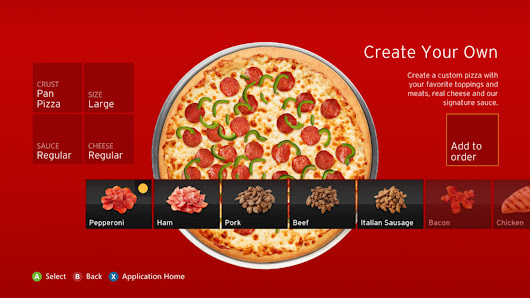 Pizza Hut sold $1 million in pizzas through Xbox 360 in four months