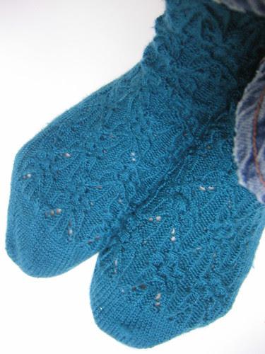 gothic spire socks done (worn)