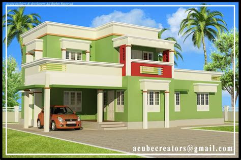 simple kerala house elevation   sqft