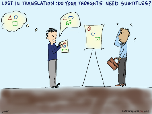 The Words Get in the Way: Do Your Thoughts Need Subtitles? [Comic] - Business 2 Community