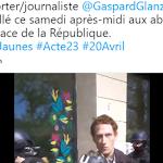 """Gaspard Glanz est """"interdit de paraitre à Paris"""" tous les samedis - Par Juliette Gramaglia - Arrêt sur images"""