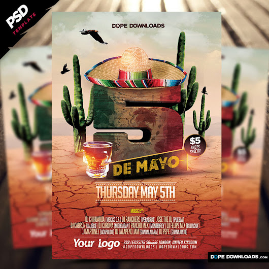 5 de Mayo Party Flyer