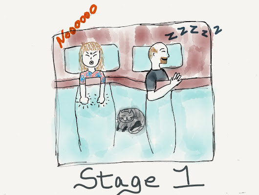 The Five Stages (of Going to the Bathroom in the Middle of the Night)