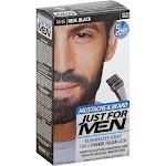Just For Men Mustache Beard Brush In Color Gel, M-55 Real Black