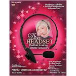 80's Hip Hop Realistic Microphone Diva Headset Halloween Costume Accessory