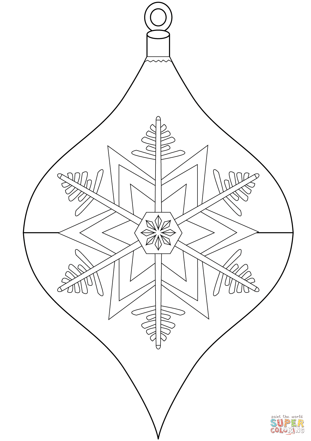 Christmas Ornament coloring page | Free Printable Coloring ...