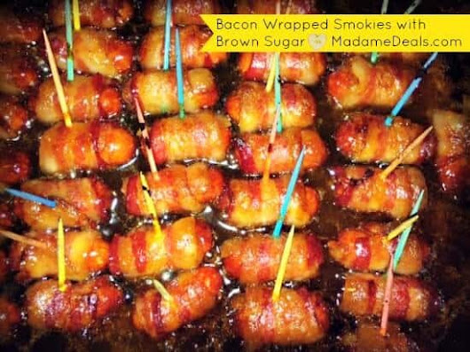 Bacon Wrapped Smokies with Brown Sugar