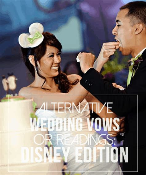 Alternative Wedding Vows or Readings: Disney Edition
