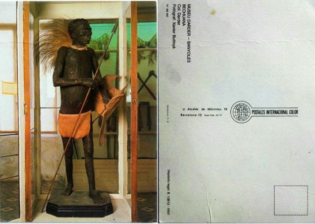 Postal con la imagen de El Negro