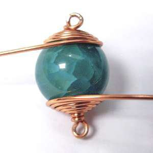 Caged Wire-Wrapped Bead Bracelet