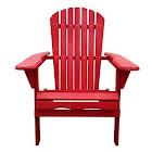 Beachcrest Home Cuyler Solid Wood Folding Adirondack Chair, Red