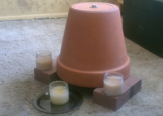 How To Make A Candle-Powered Air Heater