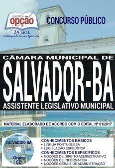 Apostila Concurso Câmara de Salvador 2018 | ASSISTENTE LEGISLATIVO MUNICIPAL
