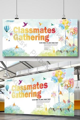 Banner Family Gathering Psd - desain spanduk kreatif
