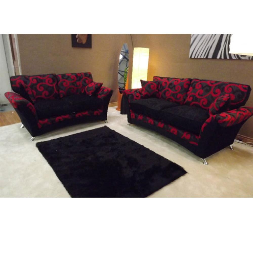 Red And Black Corner Sofa   Couch & Sofa Ideas Interior ...