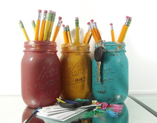 Looking for a cute way to keep your desk organized? This adorable set of painted mason jars is the perfect...