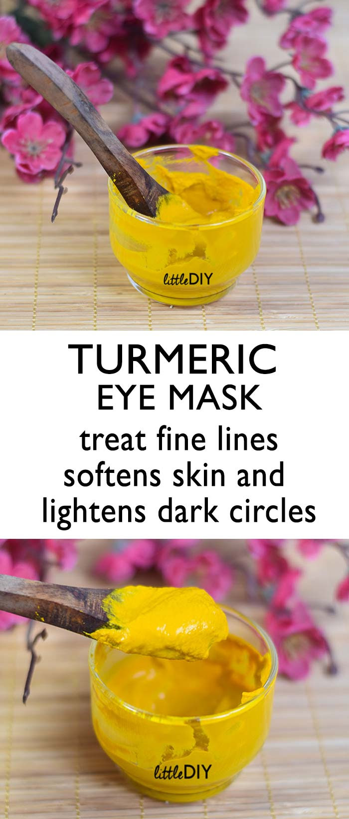 GET RID OF DARK CIRCLES WITH TURMERIC - LITTLE DIY