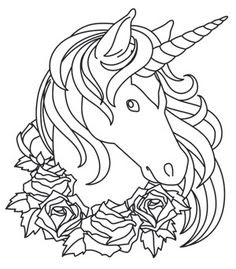 unicorn head coloring pages at getdrawings  free download