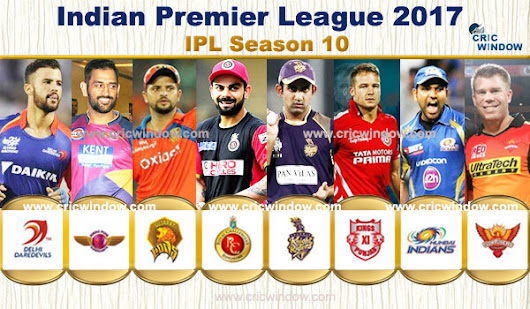 IPL 2017 Match Schedule with full details, IPL Match List 2017 | IPL-Indian Premier League