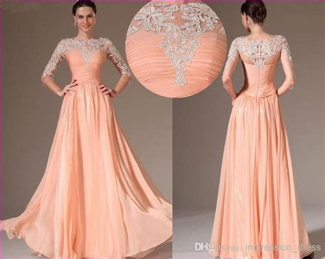 Wholesale 2014 Long Chiffon Transparent Applique Wedding