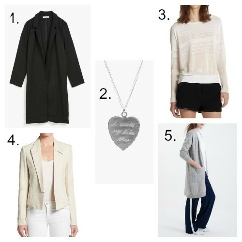 Azalea Coat - In God We Trust Necklace - Rag and Bone Sweater - Halston Heritage Jacket - Vero Moda Cardigan
