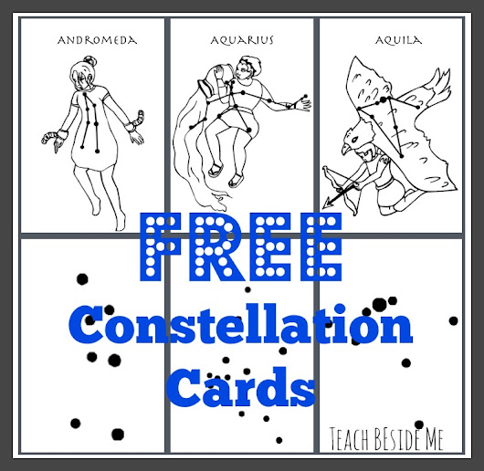 printable constellation cards for kids to learn the star patterns