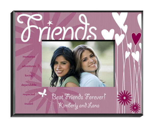 Personalized Friends Heartsflowers Picture Frame Be Monogrammed