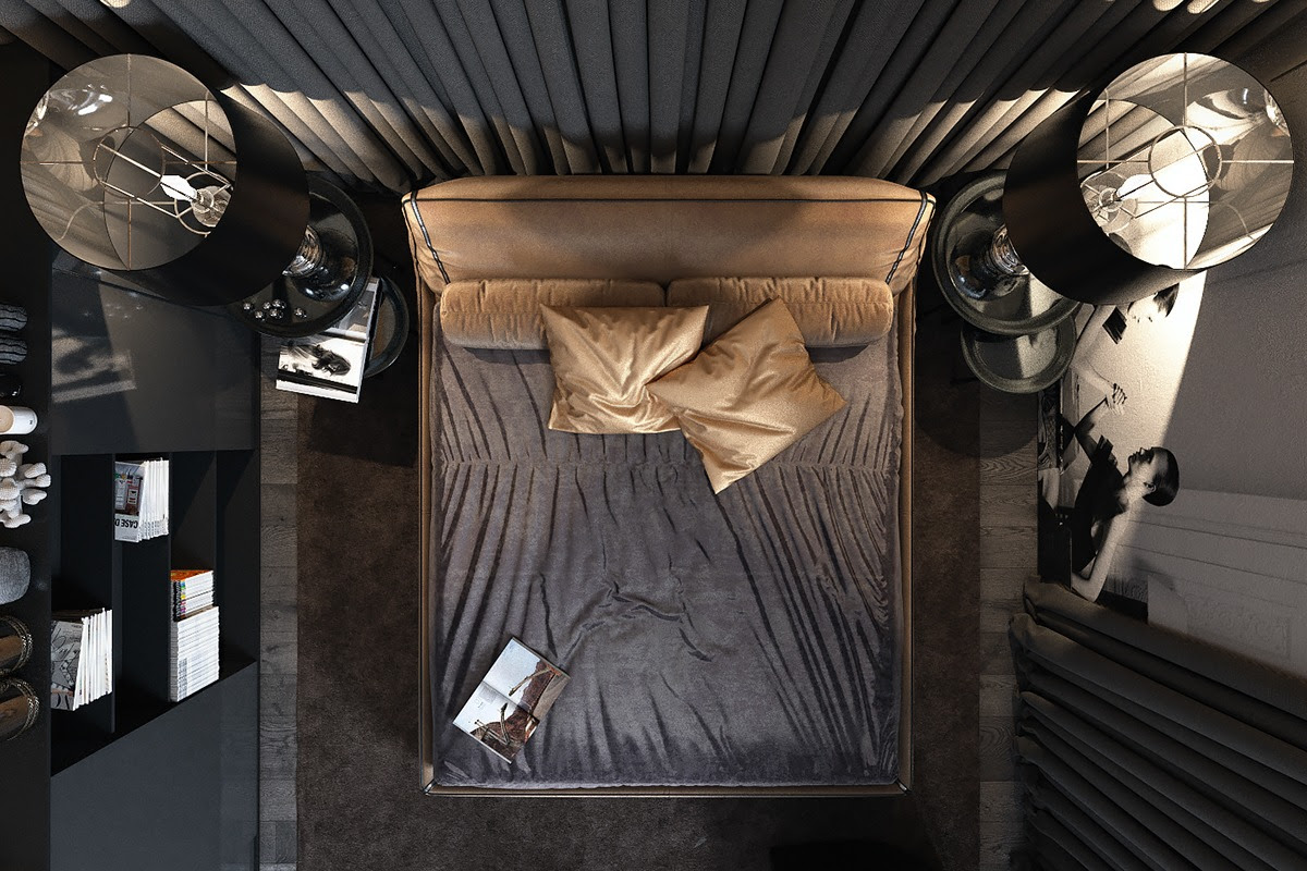 Gold And Black Bedroominterior Design Ideas