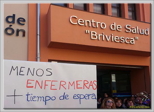7 Concentración en Centro de Salud Briviesca