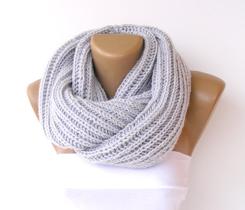 Hand made knitted infinity scarf by seno_ada