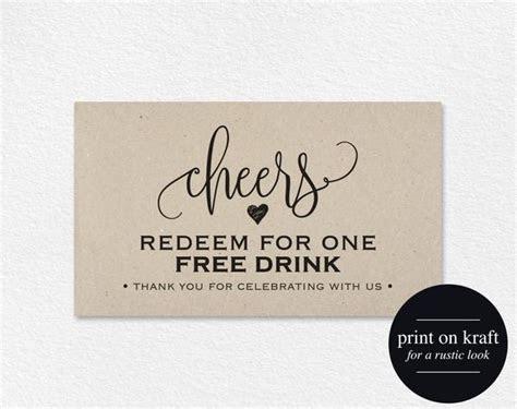FREE Drink Ticket Template, Wedding Printable, Drink