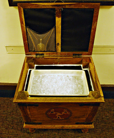 Inside a Guest Ice Chest at the Ahwahnee Hotel