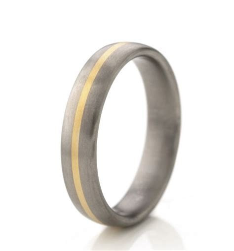 RG1936 mixed metal titanium brushed 5mm mens wedding band ring