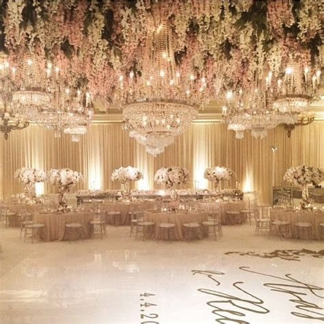 Over the top wedding reception decor by the amazing White