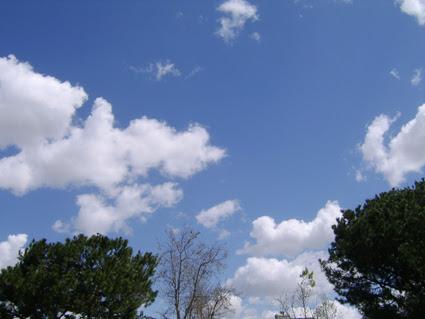 Cumulus clouds 2 Irvine, CA March 27 2007