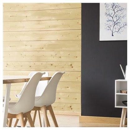d couvrez les plaquettes de parement mural en bois blanc. Black Bedroom Furniture Sets. Home Design Ideas