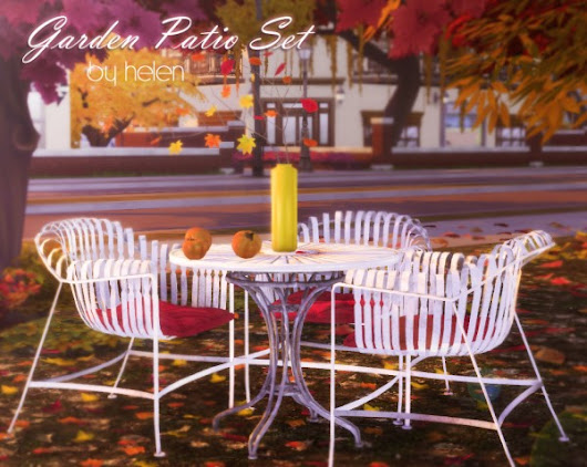 Helen Sims: Garden Patio Set • Sims 4 Downloads