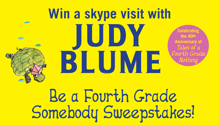 The Joy Of Children S Literature Win A Skype With Judy Blume