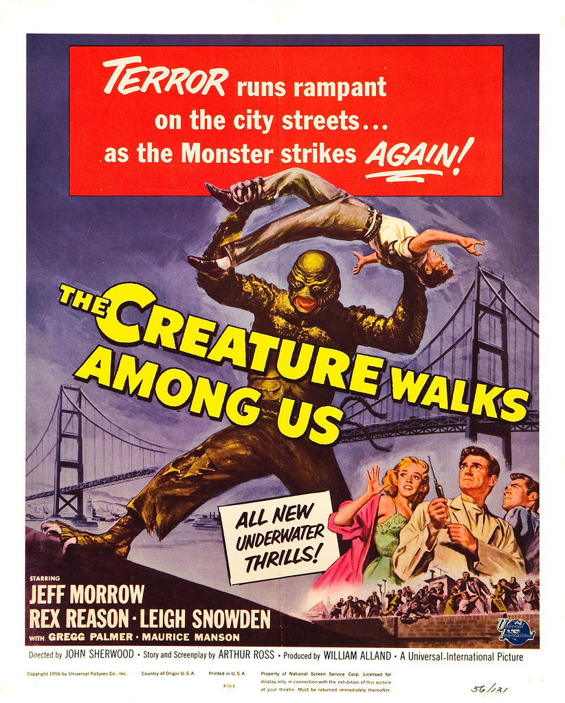 Reynold Brown - The Creature Walks Among Us (Universal International, 1956) poster 1