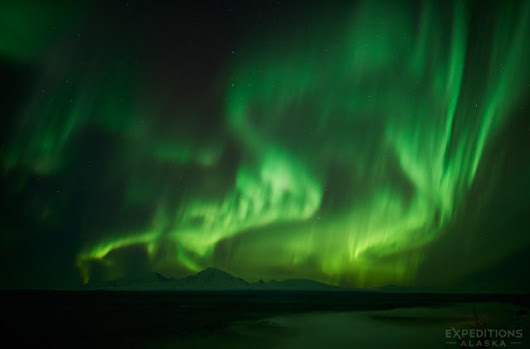 The Northern Lights over the Wrangell Mountains