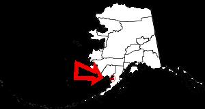 Map of Alaska highlighting Bristol Bay Borough