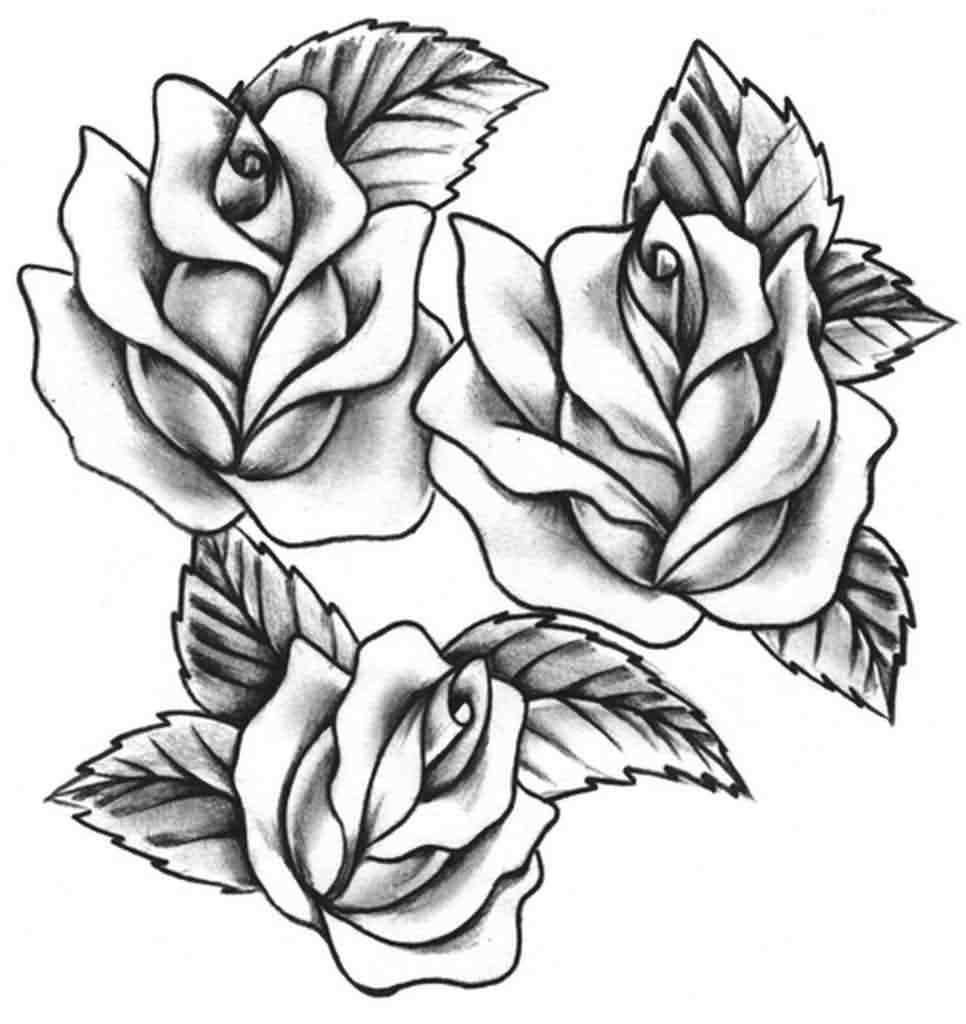 Cross With Rose Tattoos Designs