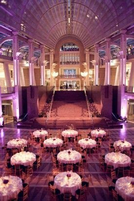 Stunning purple wedding in the Atrium at the Ronald Reagan