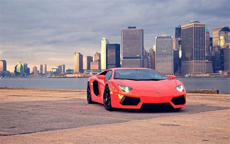car, Lamborghini, Lamborghini Aventador, City, Cityscape Wallpapers HD / Desktop and Mobile