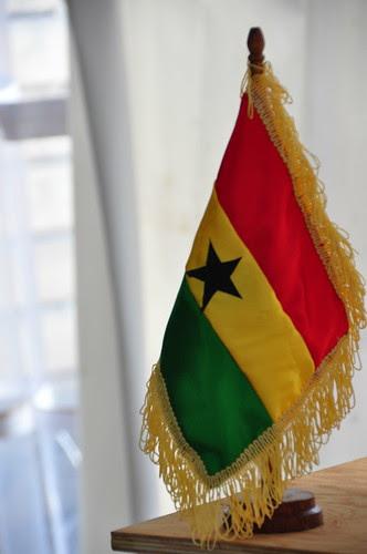 Maison de l'Afrique - Montréal - Drapeau du Ghana