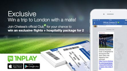 Official Chelsea Promo: Join CFC on INPLAY for your chance to win hospitality package for 2 for Stamford Bridge | Chelsea FC news