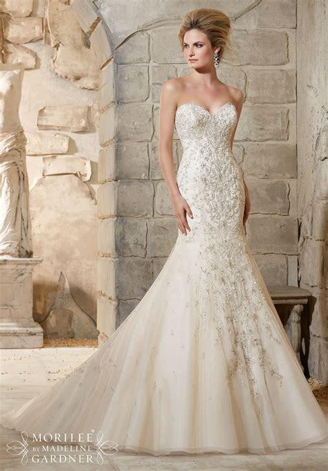 Mori Lee Wedding Dress 2790, Ivory, size 10. Diamante and