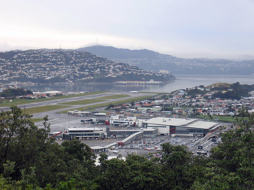 Vista geral do Aeroporto Internacional de Wellington-NZ