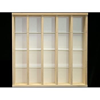 pas cher vitrine murale 53 cm x 52 cm x 11 cm collection miniature collecteur tableau d. Black Bedroom Furniture Sets. Home Design Ideas